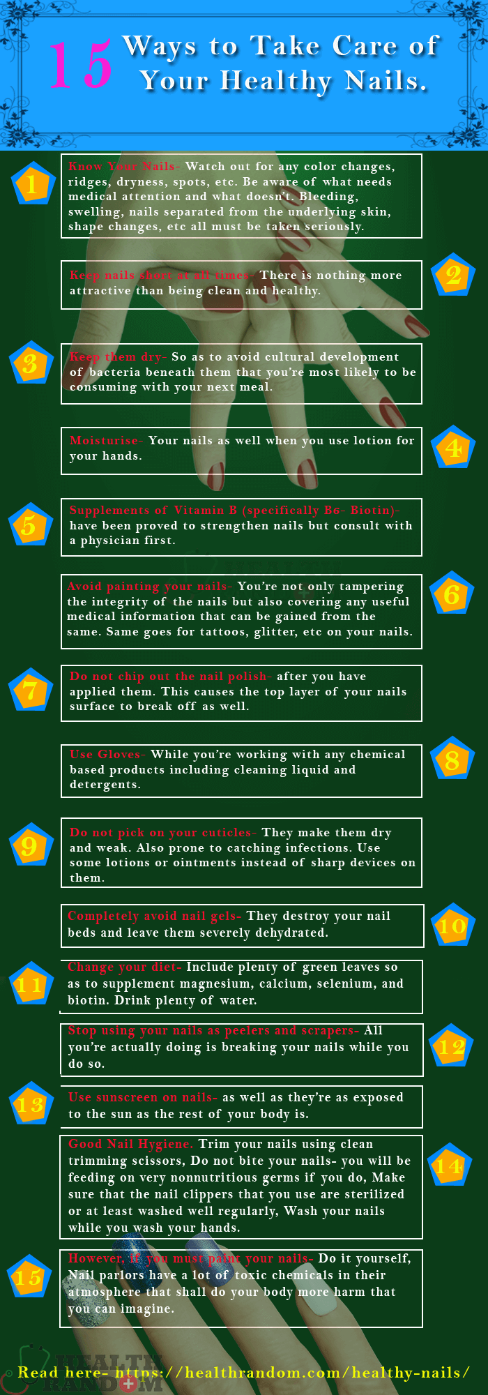 Healthy Nails info-graphics