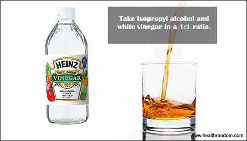 Alcohal and white vinegar